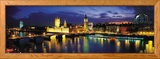 Night, London, England, United Kingdom Ingelijste fotodruk van Panoramic Images,
