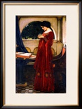 The Crystal Ball, 1902 Framed Giclee Print by John William Waterhouse