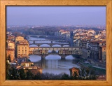 Ponte Vecchio and Arno River, Florence, Tuscany, Italy Framed Photographic Print by Steve Vidler