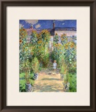 The Artist&#39;s Garden at Vetheuil, 1880 Framed Giclee Print by Claude Monet