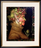 Summer, 1573 Framed Giclee Print by Giuseppe Arcimboldo