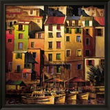 Goldenes Mittelmeer Gerahmter Giclée-Druck von Michael O'Toole