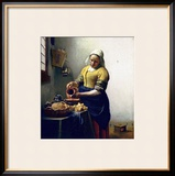 The Milkmaid, circa 1658-60 Framed Giclee Print by Jan Vermeer