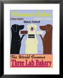 Three Lab Bakery (Bäckerei der drei Labradore) Gerahmter Giclée-Druck von Ken Bailey