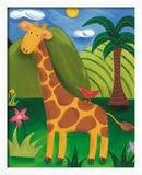 Gerry, die Giraffe Gerahmter Giclée-Druck von Sophie Harding