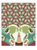Kaleidoscopic Gael Giclee Print by Belen Mena