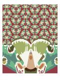 Kaleidoscopic Gael Giclee Print by Belen Mena