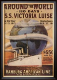 Hamburg American Line, Magazine Plate, USA, 1912 Posters