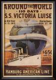 Hamburg American Line, Magazine Plate, USA, 1912 Posters