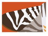 Uphill Zebra Giclee Print by Belen Mena
