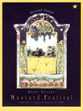 Claudia Wagar Original 1995 Napa Valley Mustard Festival Art Print Poster Posters