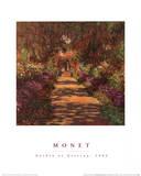 Un sentier dans le jardin de Monet, Giverny Poster par Claude Monet