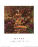 Garden Path at Giverny Poster af Claude Monet