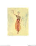Cambodjansk danserinde, på fransk Plakater af Auguste Rodin