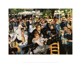 Moulin De La Gallette Prints by Pierre-Auguste Renoir