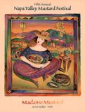 Jessel Miller Original 1998 Napa Valley Mustard Festival Art Print Poster Print