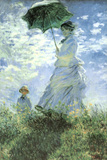 Claude Monet Woman with a Parasol Art Poster Print Photo
