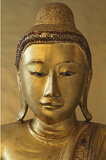 Golden Buddha (Face) Art Poster Print Prints