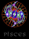 Pisces Astrological Sign Art Print Poster Poster
