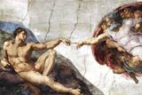 Michelangelo (Creation of Adam) Art Poster Print - Reprodüksiyon