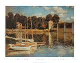 Bridge at Argenteuil Art by Claude Monet