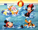 Mickey Mouse and Friends Pool Games Print