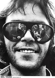 Neil Young (Sunglasses, Oakland Stadium 1974) Poster Print Posters