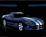 Dodge Viper Blue Car Art Print Poster Photo