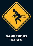 Dangerous Gases Warning Sign Art Poster Print Print
