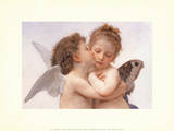 Le Premier Baiser The First Kiss Art by William Adolphe Bouguereau