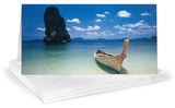 Phi Phi Island Panoramic Greeting Cards 12 Per Package Juegos de tarjetas de notas por Hugh Sitton