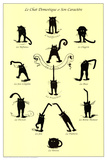French Caractere Le Chat Domestique Art Print Poster Print
