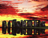 Jim Zuckerman Stonehenge Reflections Art Print Poster Posters