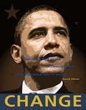 Barack Obama (Change) Art Poster Print Print