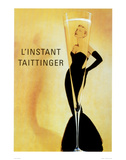 El momento Taittinger, en francés Pósters
