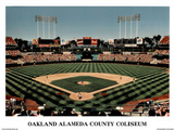 Ira Rosen Oakland Athletics Alameda County Coliseum Sports Poster Print Prints