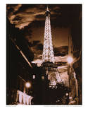 Paris at Night Eiffel Tower Art Print Poster Masterprint