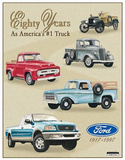 Ford Pickup Trucks 80 Year 1917-1997 Tribute Tin Sign
