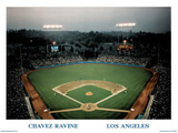 Ira Rosen Los Angeles Dodgers Chavez Ravine Sports Poster Print Prints