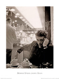 James Dean Smoking Dennis Stock Póster