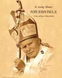Pope John Paul II (A Man of Peace, Parchment) Art Poster Print Prints