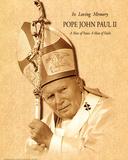 Pope John Paul II (A Man of Peace, Parchment) Art Poster Print Prints