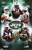 New York Jets Collage Sports Poster Print Posters