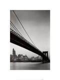 The New York Collection (Brooklyn Bridge) Posters