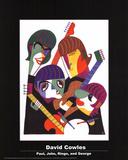 Paul, John, Ringo, and George Poster av David Cowles