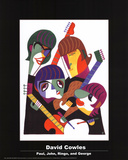 David Cowles- Paul, John, Ringo, and George Print by David Cowles