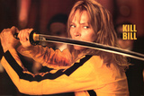 Kill Bill Movie (Uma Thurman w/ Sword) Poster Print Prints