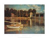 アルジャントゥイユの橋 高品質プリント : クロード・モネ