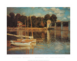 Bridge At Argenteuil Print by Claude Monet