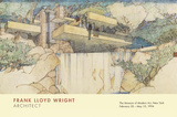 Falling Water Mill Run, PA Affiches par Frank Lloyd Wright
